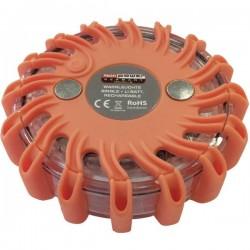Profi Power Spia lampeggiante demergenza Batteria agli ioni di litio 600 mAh caricabile a 12/24 /230 V Arancione