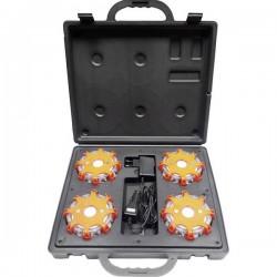 Warnblinkeuchte a LED kit 4 pz. Long Run con valigia Profi Power 2.420.030 (Ø x A) 120 mm x 40 mm