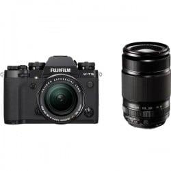 Fujifilm X-T3 Fotocamera con obiettivi intercambiabili incl. XF 18-55 mm + XF 55-200 mm 26.1 MPixel Nero Video 4K, A