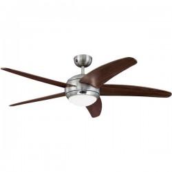 Westinghouse Bendan Ventilatore da soffitto (Ø) 132 cm Col. pala: Marrone Col. corpo: Alluminio (spazzolato)