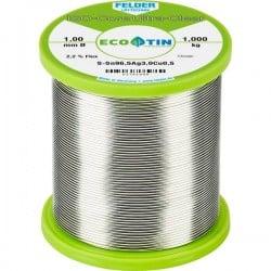 Felder Löttechnik ISO-Core Ultra Clear SAC305 Stagno per saldatura Bobina Sn96.5Ag3Cu0.5 1 kg 1 mm