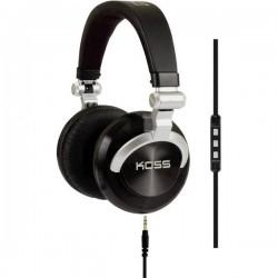 KOSS PRODJ200 DJ On Ear cuffia auricolare Cuffia On Ear pieghevole, headset con microfono Nero, Argento