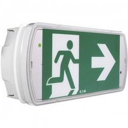 CEAG 40071349555 Indicazione via di fuga illuminata a LED Montaggio a soffitto, Montaggio a parete verso sinistra, verso