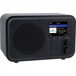 Denver IR-140 Radio Internet da tavolo Internet Bluetooth, Internetradio ricaricabile Nero