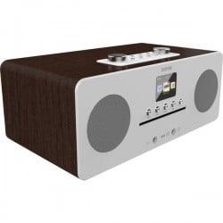Denver MIR-260 Radio Internet da tavolo DAB+, FM AUX, Bluetooth, CD, NFC, Internetradio Legno (scuro)