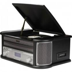 Denver MRD-51 Sistema stereo DAB+, CD, Cassette, Giradischi, AUX, USB, funzione di registrazione 2 x 2.5 W Nero