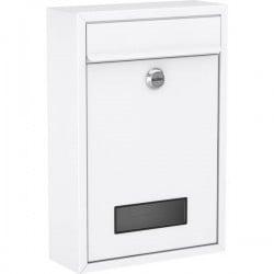 Basi 2170-1300 Cassetta della posta Acciaio Bianco opaco Serratura a chiave