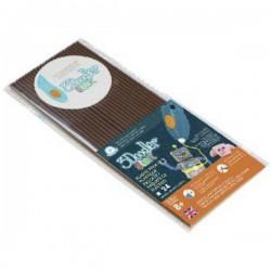 3Doodler 3DS-ECO11-BROWN-24 Coco Brown KIT Filamenti stampante 3D Elastico 1.75 mm 27 g Marrone 24 pz.