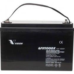 Vision Akkus FM-Serie 6FM100DX Batteria solare 12 V 100 Ah Piombo-AGM (L x A x P) 330 x 215 x 171 mm Vite M8