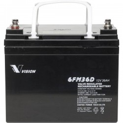 Vision Akkus 6FM36DX Batteria al piombo 12 V 36 Ah Piombo-AGM (L x A x P) 195 x 155 x 130 mm Vite M6 Esente da