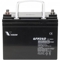 Vision Akkus FM-Serie 6FM36DXS Batteria solare 12 V 36 Ah Piombo-AGM (L x A x P) 195 x 155 x 130 mm Vite M6