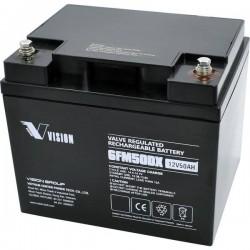 Vision Akkus FM-Serie 6FM50DXS Batteria solare 12 V 50 Ah Piombo-AGM (L x A x P) 197 x 170 x 165 mm Vite M6
