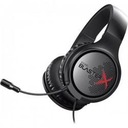 Sound BlasterX Sound BlasterX H3 Cuffia Headset per Gaming Jack 3,5 mm Filo, Stereo Cuffia Over Ear Nero, Rosso