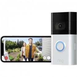 ring 8VRSLZ-0EU0 Video citofono IP Video Doorbell 3 WLAN Modulo impianto citofonico Argento