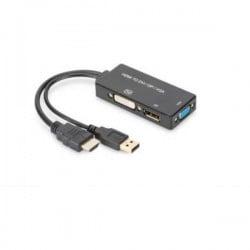 Digitus AV Convertitore AK-330403-002-S [HDMI - DVI, VGA, DisplayPort] 3840 x 2160 Pixel
