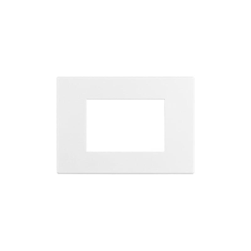 placca Axolute Air 3 moduli - Bianco opaco - verniciabile