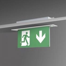 B-SAFETY BR 554 030 Indicazione via di fuga illuminata Montaggio da incasso a soffitto