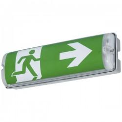 B-SAFETY BR564230 Indicazione via di fuga illuminata a LED Montaggio a parete uscita, via di fuga, verso destra, verso