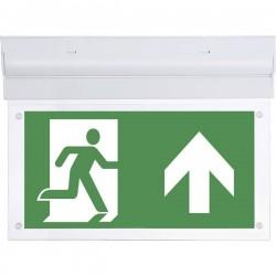B-SAFETY BR599130 Indicazione via di fuga illuminata a LED Montaggio a soffitto uscita, via di fuga, verso destra, verso