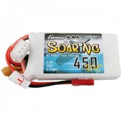 Gens ace Batteria ricaricabile LiPo 7.4 V 450 mAh Numero di celle: 2 30 C Softcase JST-SYP