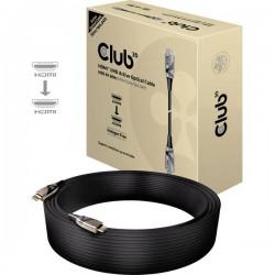 club3D HDMI / Fibra ottica Cavo 50.00 m CAC-1391 Privo di alogeni, HDMI ad alta velocità con Ethernet, Ritardante di