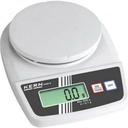 Kern EMB 3000-1S EMB 3000-1S Bilancia compatta Portata max. 3 kg Risoluzione 0.1 g a batteria Bianco, Grigio