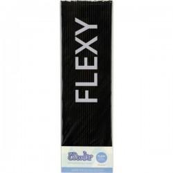 3Doodler FLX01-BLK-100 Flexy KIT Filamenti stampante 3D Plastica PLA, Filamento flessibile flessibile 3 mm 193 g Nero