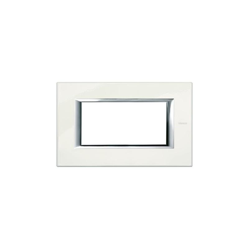 Placca Laccati Axolute Bticino, codice HA4804BG, forma rettangolare, colorata in Bianco Limoges, Miglior Prezzo.