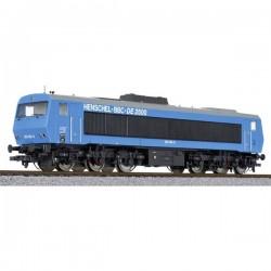 Liliput L132057 H0 Locomotiva diesel DE 2500 Henschel BBC N. 202 004-8 blu versione AC