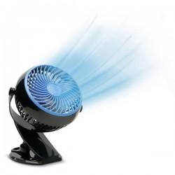 MediaShop Livington Go Fan Ventilatore da tavolo 2 W, 3 W, 4 W (L x L x A) 150 x 186 x 80 mm Nero