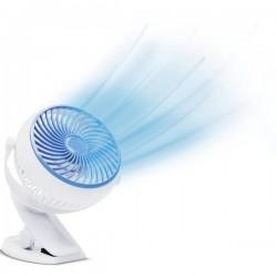 MediaShop Livington Go Fan Ventilatore da tavolo 2 W, 3 W, 4 W (L x L x A) 150 x 186 x 80 mm Bianco