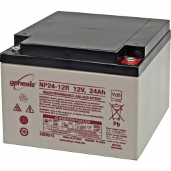 EnerSys Genesis NP24-12 Batteria al piombo 12 V 24 Ah Piombo-AGM (L x A x P) 166 x 125 x 175 mm Vite M5 Esente da