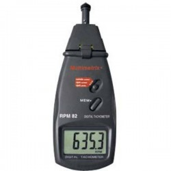 Multimetrix P06236902 Tachimetro Meccanico, Ottico 0.5 - 19999 giri/min 2.5 - 99999 giri/min