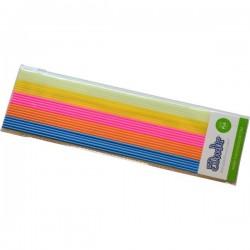 3Doodler PL-MIX13 Boogie Nights KIT Filamenti stampante 3D Plastica PLA 1.75 mm 63 g Blu, Arancione, Rosa, Giallo,