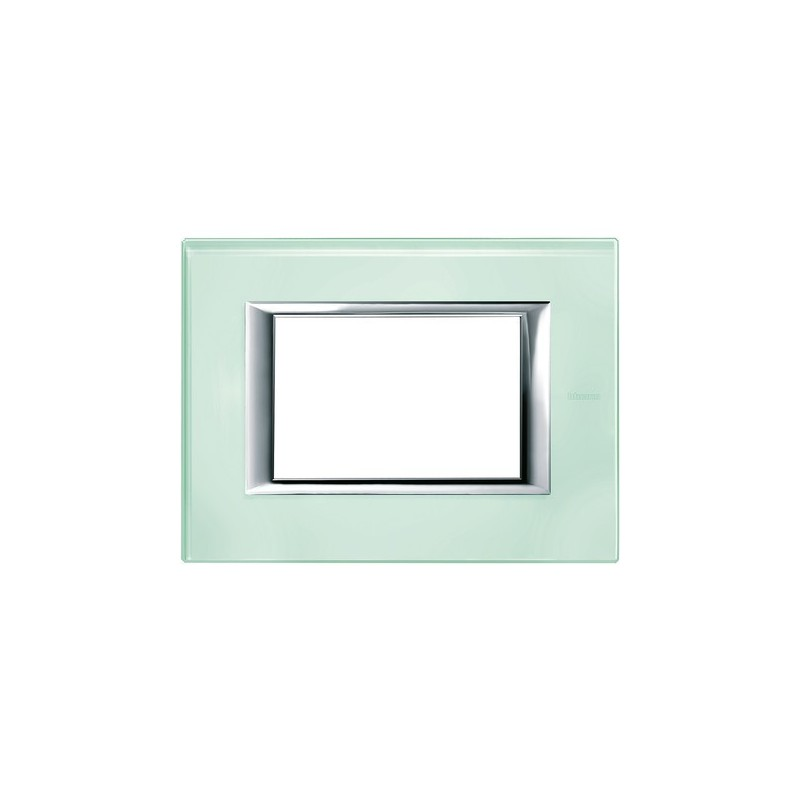 Placca in vetro Kristall, Serie Vetri Axolute Ticino, 3 moduli, codice HA4803VKA.