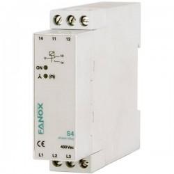 Relè di monitoraggio 1 scambio Fanox S4-3x400V AC 1 pz.