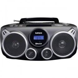 Lenco SCD-100 Radio CD FM AUX, Bluetooth, CD, SD, USB Nero