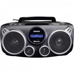 Lenco SCD-685 Radio CD DAB+, FM AUX, Bluetooth, USB Nero, Grigio