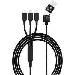 Smrter Cavo di ricarica USB USB 2.0 Spina USB-A, Spina USB-C™, Connettore Apple Lightning, Spina USB-Micro-B 1.20 m