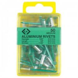 C.K. T3819A 508 Rivetto (Ø x L) 4 mm x 6 mm Alluminio Alluminio 50 pz.