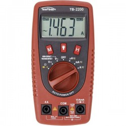 Testboy TB-2200 Multimetro portatile digitale CAT II 400 V, CAT III 300 V Display (Counts): 2000