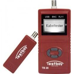 Misura cavi Testboy 28 Rete Adatto per USB, connessioni RJ11 e RJ45, BNC