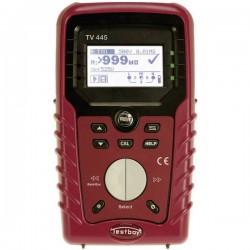TV 445 Tester installazione / VDE DIN VDE 0100-600, ÖVE E8001, NIN/NIV, FI / RCD tipo di test AC, A Calibrato di