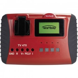 Testboy TV 470 Tester per apparecchiature Calibrato (DAkkS) VDE 0701/0702, DIN EN 62353 (VDE 0751-1)