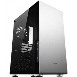 Jonsbo U4 SILVER Midi-Tower PC Case da gioco, Contenitore Argento