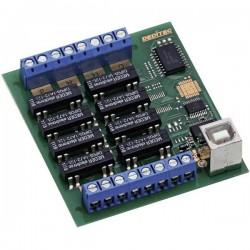 Modulo uscite Deditec USB-RELAIS-8_A USB Numero uscite relè: 8