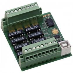 Modulo uscite Deditec USB-RELAIS-8_B USB Numero uscite relè: 8