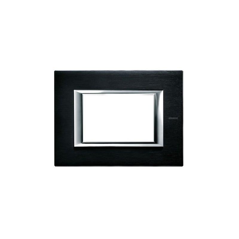 Placche Axolute Bticino forma rettangolare, materiale metallo, colore Antracite Spazzolato, 3 posti, HA4803XS.
