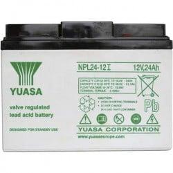 Yuasa NPL24-12 YUANPL24/12 Batteria al piombo 12 V 24 Ah Piombo-AGM (L x A x P) 166 x 125 x 175 mm Vite M5 Esente da
