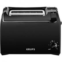 Krups KH1518 Tostapane Con griglia scaldabriosche integrata Nero